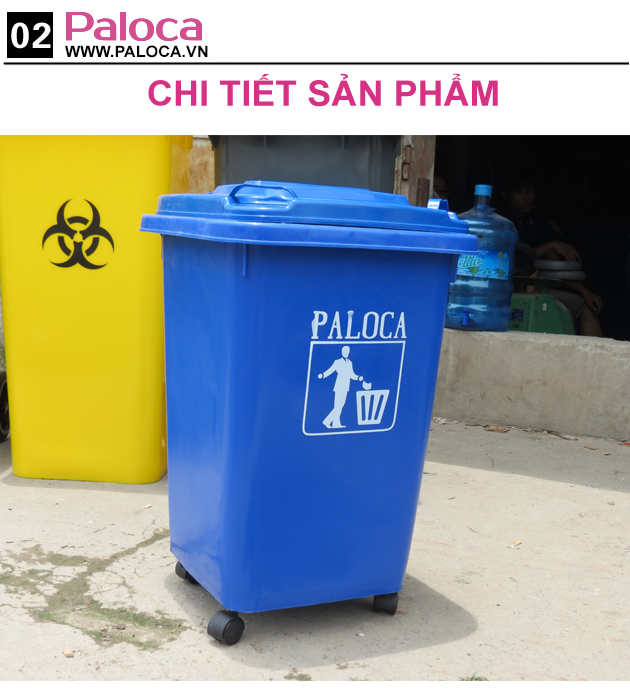 Chi tiết sản phẩm thùng rác nhựa paloca