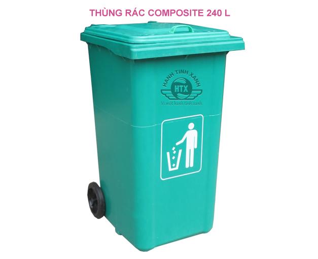 thùng rác composite 240 lít nhập khẩu