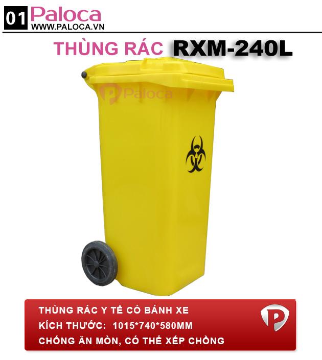 tổng quan thùng rác nhựa hdpe 240 lít