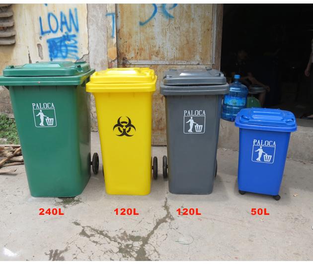 Tương quan thùng rác nhựa hdpe 50 lít so với các thùng rác có dung tích lớn hơn