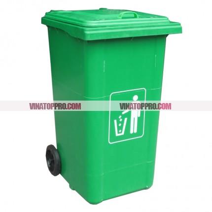 thùng rác nhựa composite chống cháy 240 lít