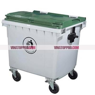 Thùng rác nhựa công nghiệp 1100 lít