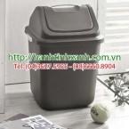 Thùng rác nhựa có nắp lật 12 lít