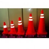 Cọc tiêu giao thông 2 sọc phản quang
