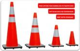 Cọc tiêu giao thông nhựa PVC