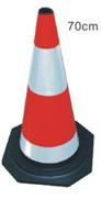 Cọc tiêu giao thông cao su phản quang trắng