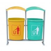 thùng rác treo đôi