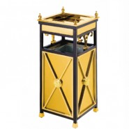 Thùng rác inox mạ vàng gạt tàn A25-C