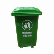 Thùng rác nhựa có bánh xe 60 Lít