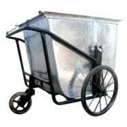 Xe đẩy thu gom rác bằng tôn