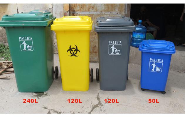 Các kích thước khác của thùng rác HDPE