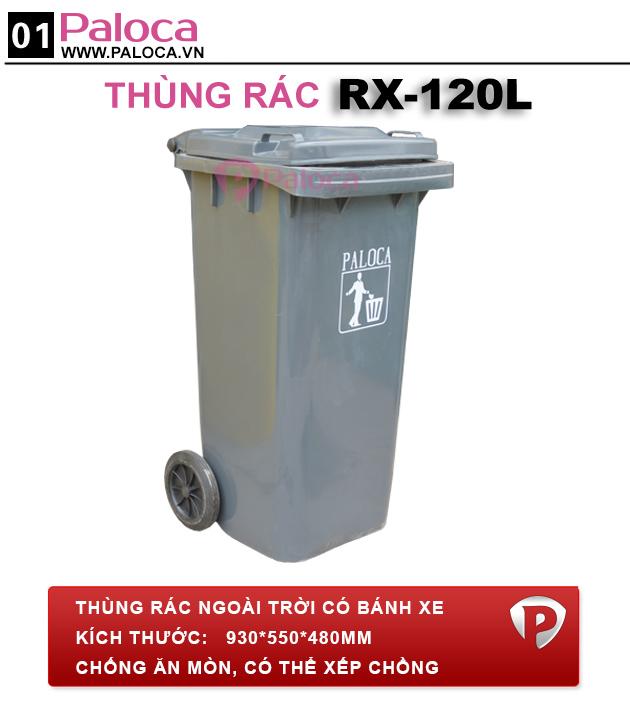 Mẫu sản phẩm thùng rác nhựa HDPE 120 Lít