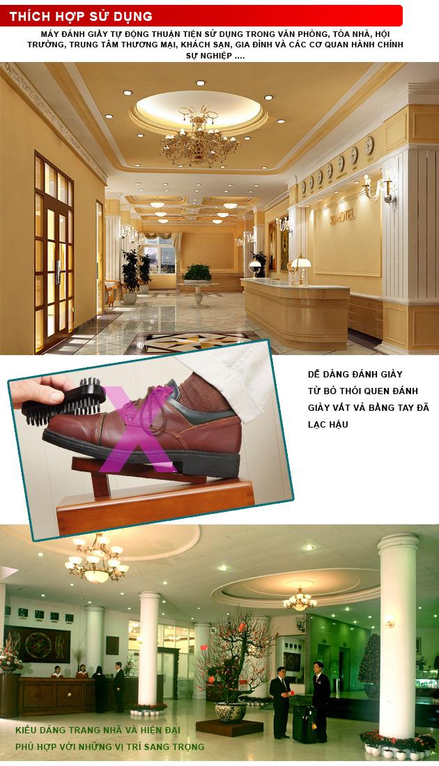 Máy đánh giày cảm ứng SC-DX3 làm tăng tính sang trọng trong các nhà hàng, trung tâm thương mại