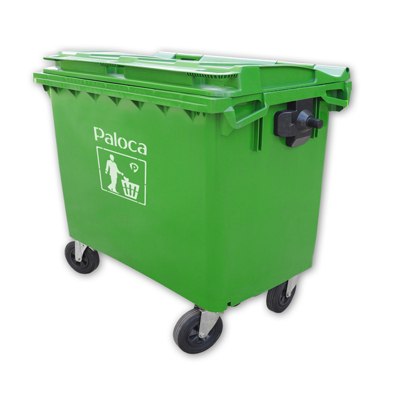 Thùng rác nhựa có bánh xe 660l