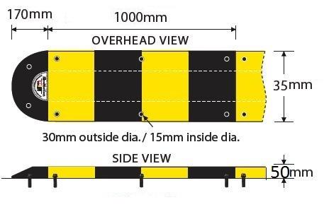 Đặc điểm gờ giảm tốc cao su có phản quang. Địa chỉ nơi bán gờ giảm tốc rẻ nhất